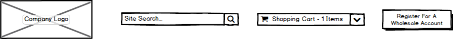 "A ""Register for Wholesale"" button in a website's header."